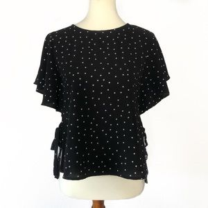 One Clothing Flutter sleeve star print top XS